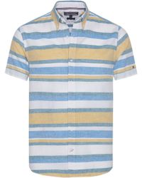 Tommy Hilfiger - Men's Short Sleeve Slim Fit Block Shirt - Lyst