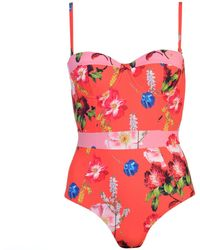 Ted Baker Ted Berry Sundae Swimsuit - Red