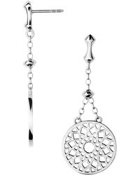 Links of London - Timeless Silver Large Drop Earrings - Lyst