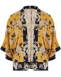 Oasis Curve Scarf Kimono Jacket* - Multicolour