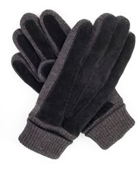 Dents - Men`s Casual Suede Gloves Knitted Cuff - Lyst
