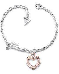 Guess | Grace Heart Bracelet | Lyst