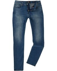 7 For All Mankind - Skinny Fit Ronnie Luxe Performance Jeans - Lyst