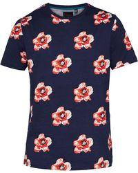 Ted Baker - Men's Bluepop Flower Print Cotton T-shirt - Lyst
