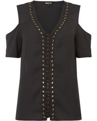 9fcad97a9da9c7 Biba Oriental Embroidered Button Back Blouse in Black - Lyst