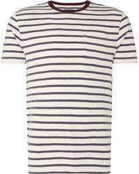 Criminal - Men's Contrast Striped Ringer T Shirt - Lyst