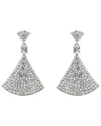 Mikey - Bell Design Cubic Embed Drop Earring - Lyst