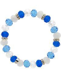 Monet - Crystal Bead Montana Bracelet - Lyst
