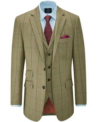 Skopes Goodwood Suit Check Jacket - Green