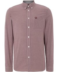 Fred Perry - Gingham Classic Fit Long Sleeve Shirt - Lyst