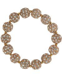 Mikey - Crystal Heavy Bracelet - Lyst