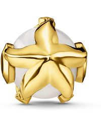 Thomas Sabo - Yellow Gold Pearl Starfish Karma Bead - Lyst