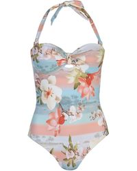 Ted Baker Mint Choc Wrap Swimsuit - Pink