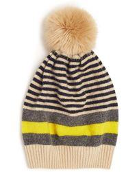 Jigsaw - Kilda Stripe Pom Hat - Lyst