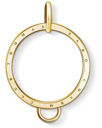 Thomas Sabo - Yellow Gold Large Circle Charm Carrier - Lyst