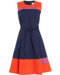 BOSS - Hadesa Colour Block Dress - Lyst