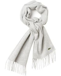Lacoste | Cashmere Mix Scarf | Lyst