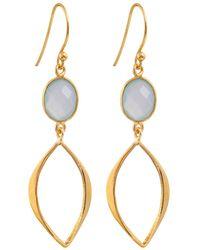 Juvi Designs - Gold Vermeil Boho Cat Eye Earrings - Lyst
