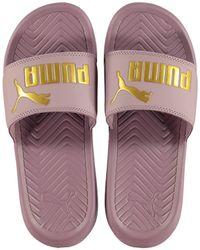 PUMA Popcat Sliders - Purple