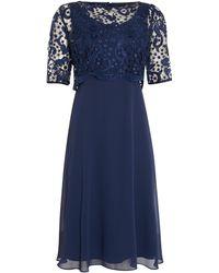 Ariella | Lace Overlay Dress | Lyst