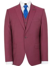 Gibson - Men's Raspberry Churchill Hopsack Two Piece Suit - Lyst