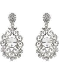 Mikey - Filigree Crystal Spread Earring - Lyst