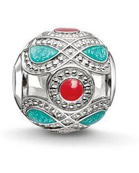 Thomas Sabo - Turquoise And Red Karma Bead - Lyst