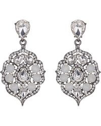 Mikey - Fillagary Hanging Crystal Earring - Lyst