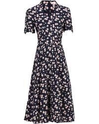 Jolie Moi - Floral Print Short Sleeved Tea Dress - Lyst