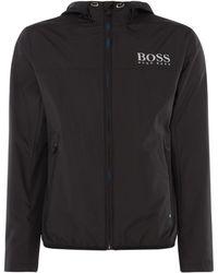 BOSS - Men's Jeltech Logo Lightweight Hooded Zip Up Jacket - Lyst