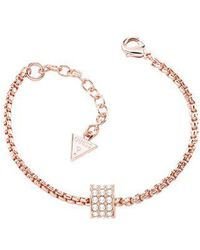 Guess | G Rounds Rose Gold Bracelet | Lyst