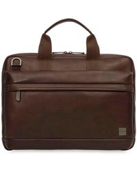 Knomo Foster 14 Laptop Briefcase - Brown