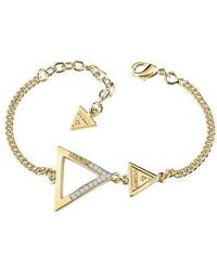Guess - Iconic 3angles Ubb83064-l Bracelet - Lyst
