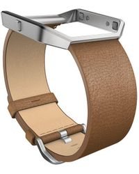 Fitbit - Blaze Camel Leather Accessory Band - Lyst
