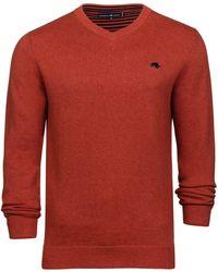 Raging Bull   Men's V-neck Cottcash Sweater   Lyst