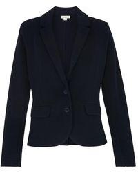 Whistles Slim Jersey Jacket - Blue