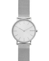 Skagen - Hagen Slim Stainless Steel-mesh Watch - Lyst