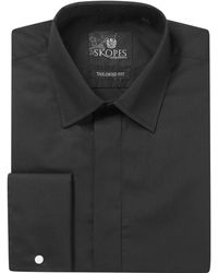 Skopes Easy Care Formal Dress Shirt - Black