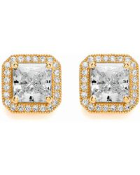 Bouton - Delicate Square Earrings - Lyst