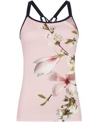 Ted Baker - Harmony Floral Strappy Sports Top - Lyst