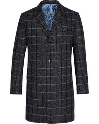 Ted Baker - Men's Ando Checked Wool Overcoat - Lyst