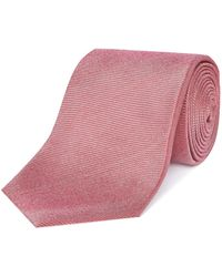 Chester Barrie - Rushmore Red Textured Silk Tie - Lyst