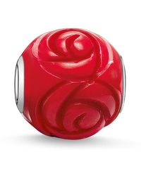 Thomas Sabo - Karma Bead Red Rose - Lyst