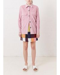 House of Holland - Pink Cord Shirt - Lyst