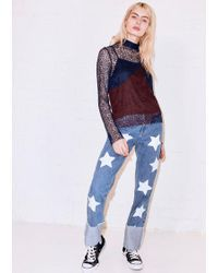 House of Holland | Star Printed Deep Turn Up Jeans | Lyst