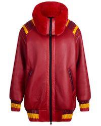 House of Holland - Vivid Shearling Varsity Jacket - Lyst