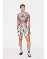 House of Holland Muted Cheetah Cycling Shorts - Multicolor