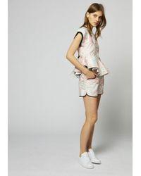 House of Holland Jacquard Palm Leaf Shorts - Multicolor