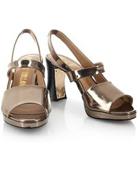 House of Holland - Ss13 'buzzkill' Metallic Heels - Lyst