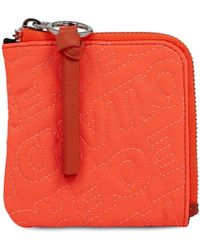 House of Holland 'hoh' Neon Orange Embroidered Zip Wallet - Multicolor